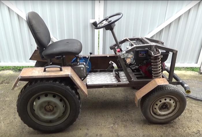 самостоятельно мини трактор из мотоблока нева