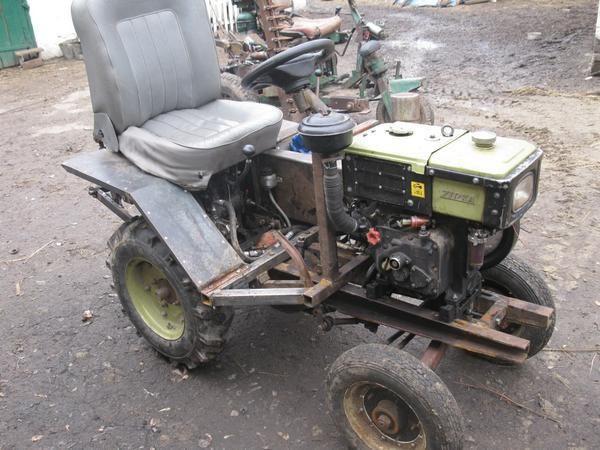 самоделка мотоблока в трактор