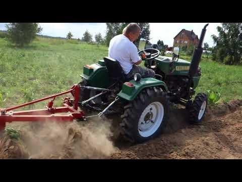 обработка земли минитрактором