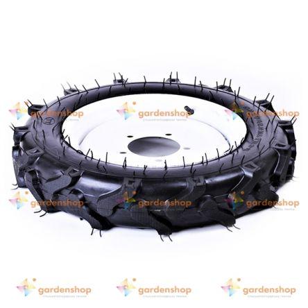 """Колесо в сборе 4.00*14 (под 5 болтов) 11,95 кг """"елочка"""" - мототрактор цена- Фото №1"""