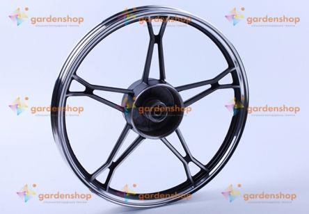 Диск задний литой, барабанный тормоз 17*1,4 (black) 3kg - Дельта/Альфа цена- Фото №1