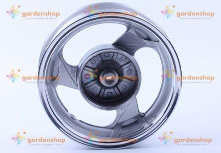 Диск задний литой, барабанный тормоз 12*3,5 (19 шлицов) на скутер 125/150CC цена- Фото №1