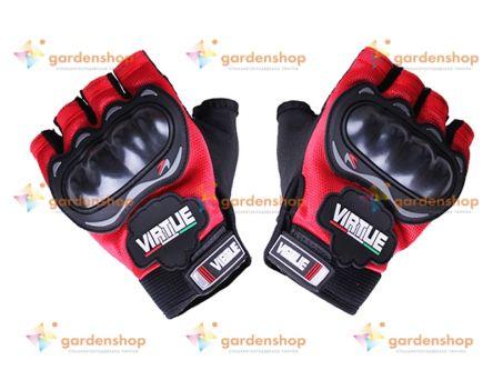 Мотоперчатки YM001-15 (короткие) красные size L цена- Фото №1