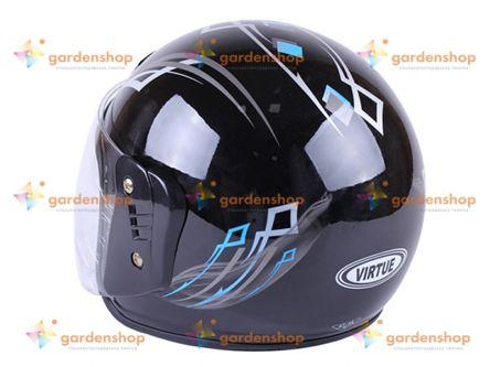 Шлем MD-В201 (открытый) черно синий VIRTUE (HM-098)- Фото №2