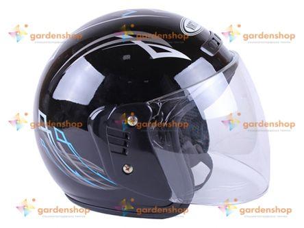 Фото - Шлем MD-В201 (открытый) черный с синим - VIRTUE- Фото №3