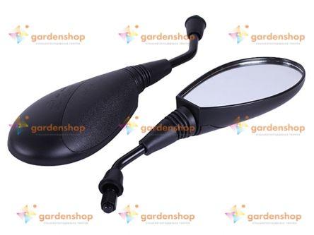 Зеркала овальные черные М10 (пара) - AM цена- Фото №1